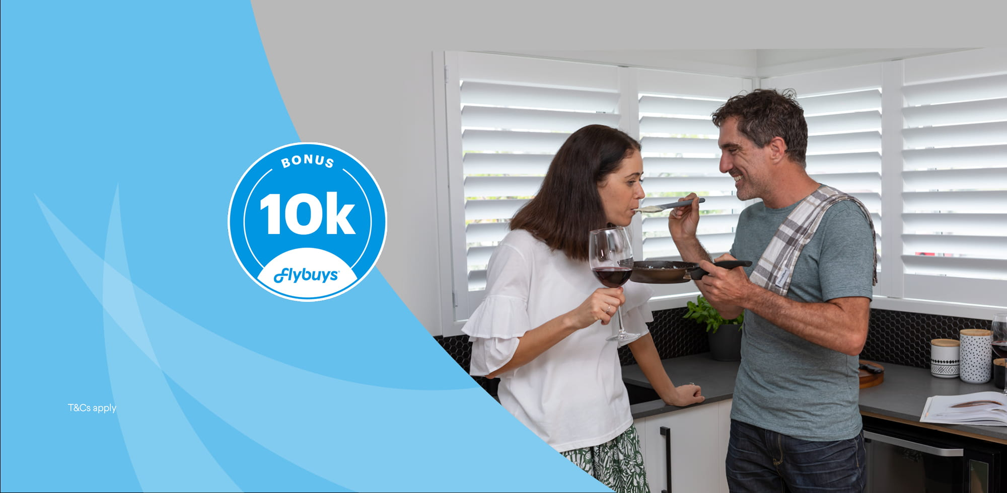 Go into the draw to win 10,000 Flybuys with Harrisons Kitchens (Auckland Only)